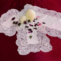 Rebrodè Doilies in Pure Linen