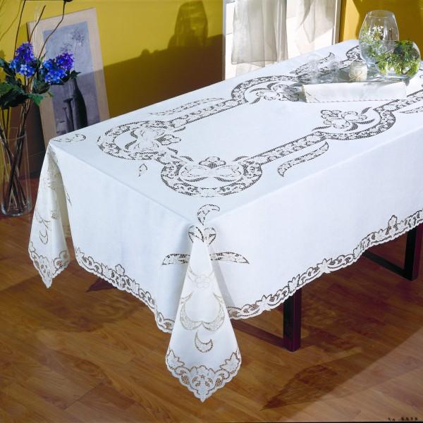 Tovaglia da tavola Intaglio in puro lino - CAPPELLINI STORE