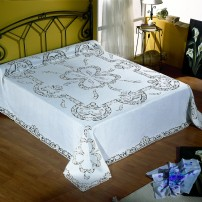 Intaglio Thread Bedsheet in Pure Linen