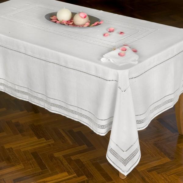 Tovaglia da tavola Punto Norvegese in puro lino - CAPPELLINI STORE