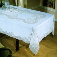Sicilian Stitch Tablecloth in Pure Linen
