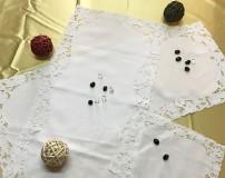 Centri ricamo a mano Madeira originali in puro lino Bellora