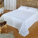 Norwegian Lace Bedcover in Pure Cotton