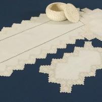 Sicilian Stitch Doilies in Pure Linen