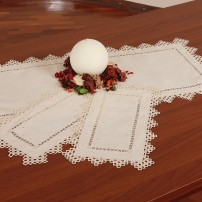 Needle Stitch Doilies in Pure Linen