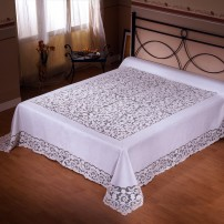 Intaglio Thread Bedcover in Pure Linen