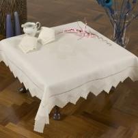 Sicilian Stitch Tea Set in Pure Linen