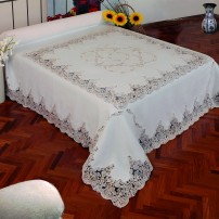 Copriletto e Lenzuolo matrimoniale Rebrodè in puro lino