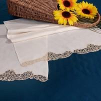 Asciugamani bagno pizzo Cantù in puro lino