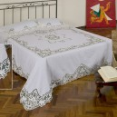 Intaglio Thread Bedcover in Pure Linen