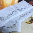 Lenzuolo matrimoniale Pizzo Cantù in puro lino Bellora