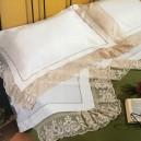 Lenzuolo matrimoniale Filet in puro lino