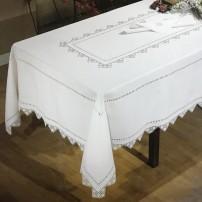 Tovaglia da tavola di Punto Ago in puro lino