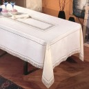 Intaglio Thread Tablecloth in Pure Linen