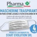 Mascherina filtrante kit da 100 e 400 filtri