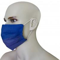 Mascherina Protezione in Puro Lino Blu Navy con inserimento filtri 10 di ricambio
