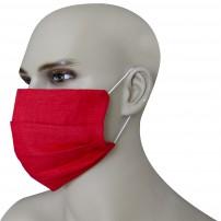 Mascherina Protezione in Puro Lino Rosso Veneziano con inserimento filtri 10 di ricambio