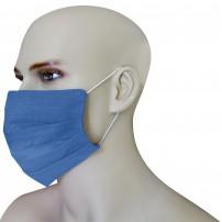 Mascherina Protezione in Puro Lino Denim con inserimento filtri 10 di ricambio
