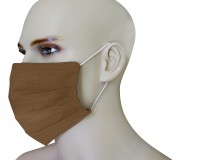 1 Face Mask in pure linen light pink color with 10 spare filters included