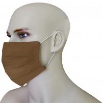 Mascherina Protezione in Puro Lino Corallo con inserimento filtri 10 di ricambio