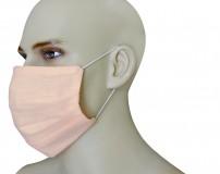 Mascherina Protezione in Puro Lino Rosa con inserimento filtri 10 di ricambio
