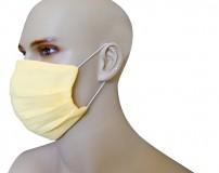 Mascherina Protezione in Puro Lino Limone con inserimento filtri 10 di ricambio