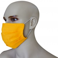 1 Face Mask in pure linen amber color with 10 spare filters included