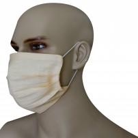 Mascherina Protezione in Puro Lino Ecru' con inserimento filtri 10 di ricambio