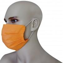 Mascherina Protezione in Puro Lino Arancio con inserimento filtri 10 di ricambio