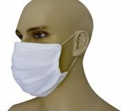 Mascherina Protezione in Puro Lino Rossa con inserimento filtri