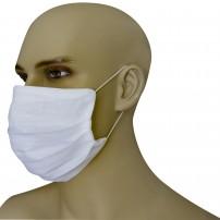 Mascherina Protezione in Puro Lino Bianca con inserimento filtri 10 di ricambio